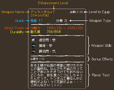 Onigiri Online - Weapon Description