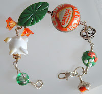 Green and Orange 'Bunny Pop' bracelet