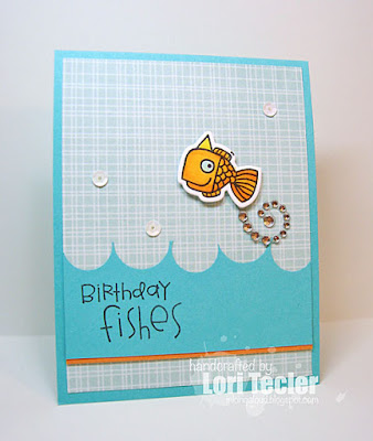 Birthday Fishes card-designed by Lori Tecler/Inking Aloud-stamps and dies from Paper Smooches