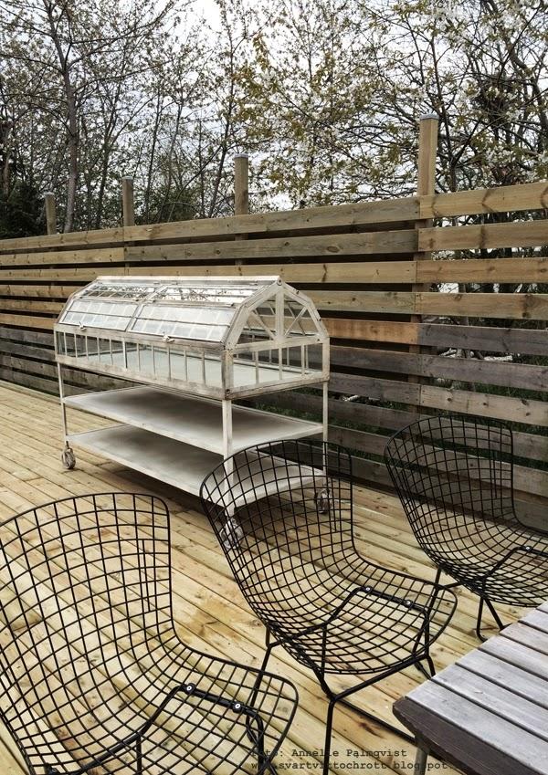 industriellt växthus på hjul, vitt, trädgård, blogg,