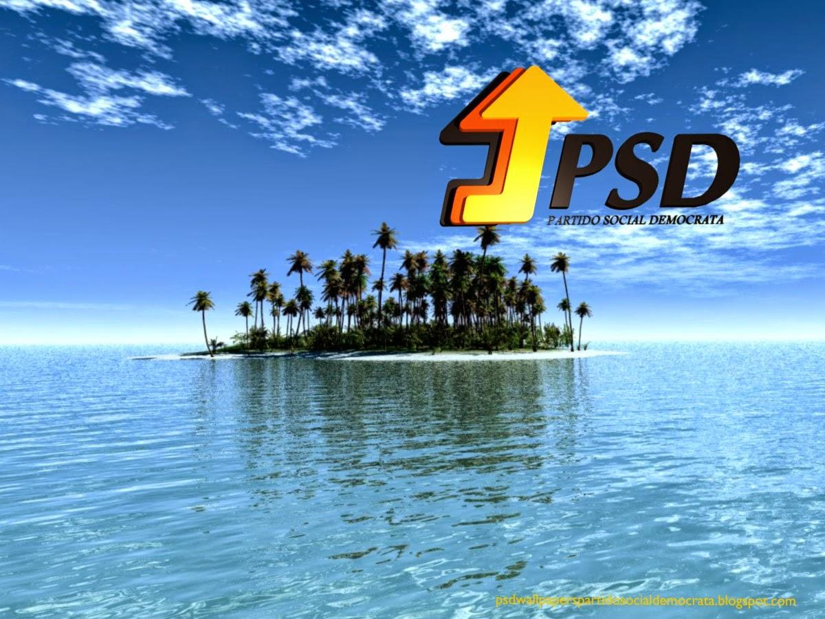 Papel de parede do emblema do Partido Social Democrata emblema frontal do PSD para utilizar como fundo de tela wallpaper do seu ambiente de trabalho