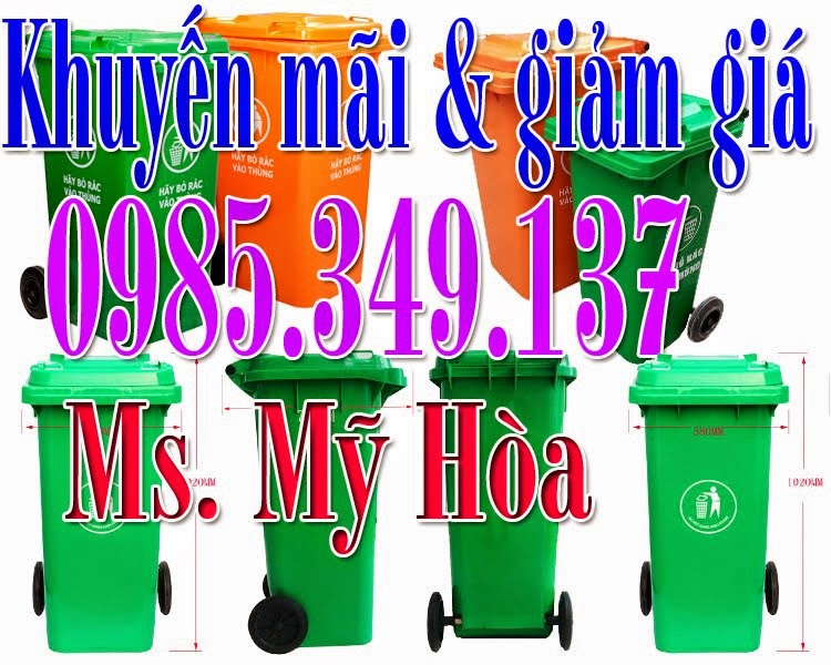 Khuyến mãi Thùng rác 120L, 240L,660L