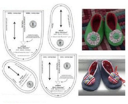 MuyVariado.com: Zapatos para Bebes, Moldes Faciles de Hacer, Ideas ...