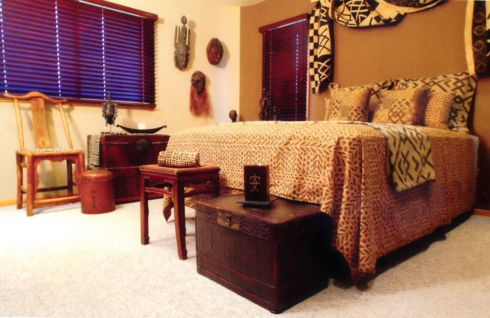 Foundation dezin decor bedroom design in african way for African home designs