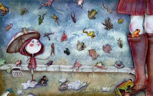 Lluvia de ranas y sapos