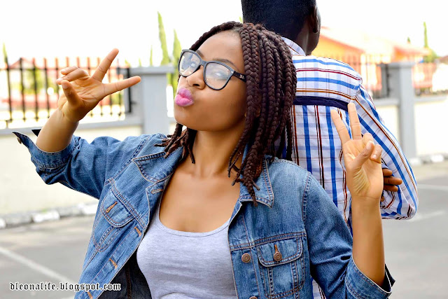 denim-shorts-denim-jacket-geeky-sunglasses-big-braids-boots-shoes-pink-lips-pinklips-denimshorts