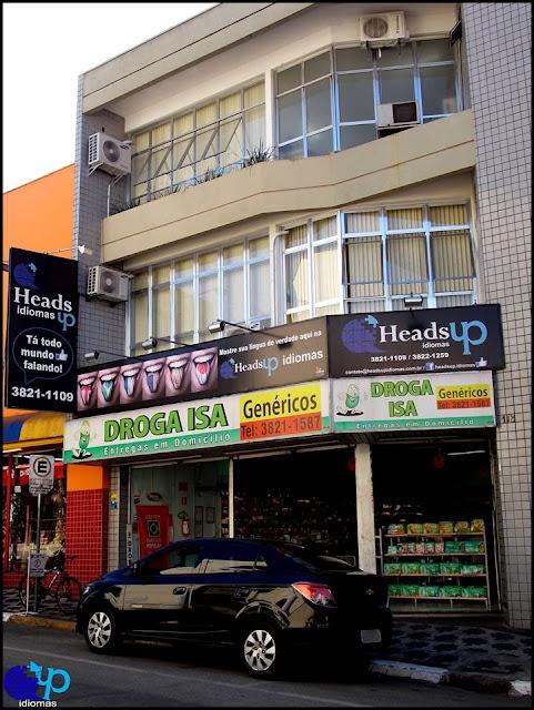 A Escola HeadsUP de Idiomas se localiza na Rua Gersoni Napoli nº118 - 1 ºandar - Centro - Registro-SP Fone: (13) 3821-1109 ou (13)3822-1259
