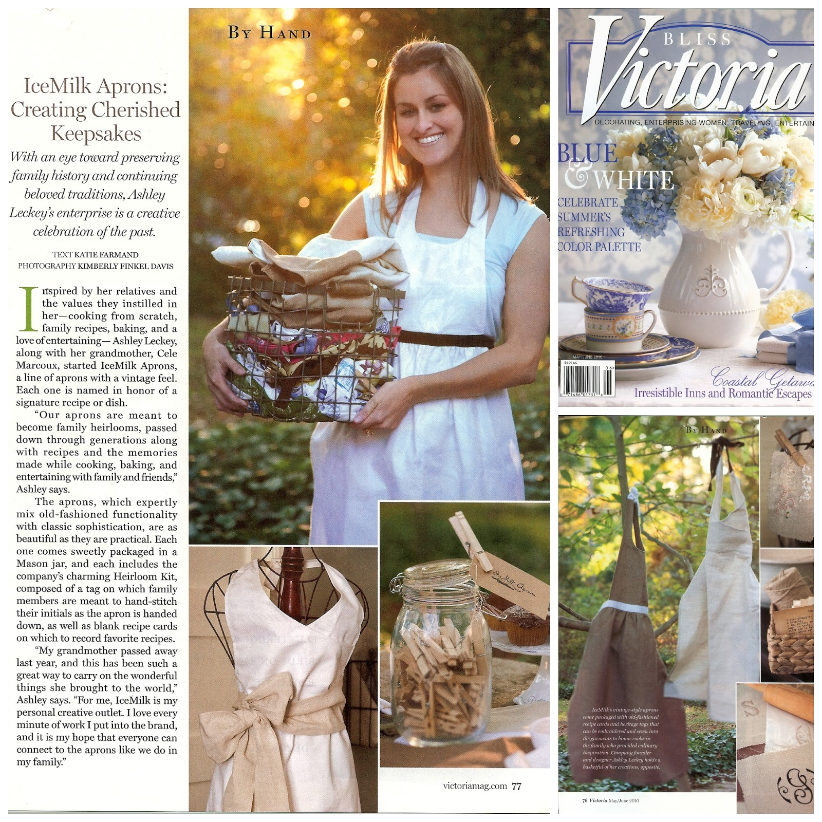 Ice Milk Aprons, Victoria Magazine, Heirloomed Blog