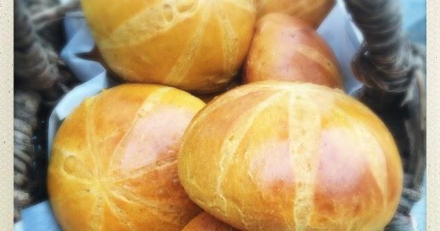 Pumpkin Brioche Buns