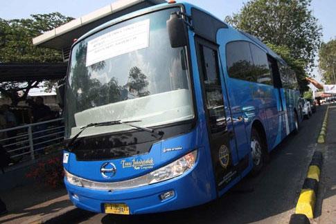 Bus Lane Kota Tangerang (Trans Jabodetabek tangerang) Resmi Beroperasi