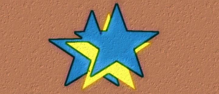 Estrelas na parede da casa - Arte: Jean Tosetto