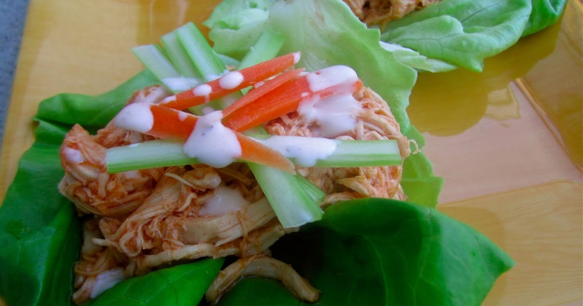 Stephanie Cooks: Crockpot Buffalo Chicken Lettuce Wraps