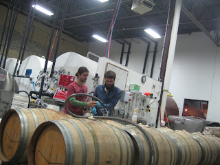 Filling the inoculated barrels