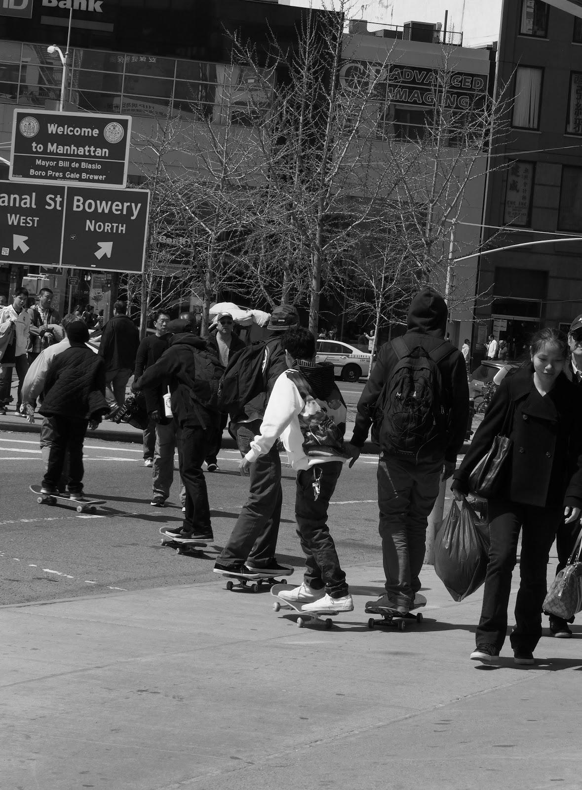Skateboard Lineup #skateboarders #nyc #nycstreetscenes 2014