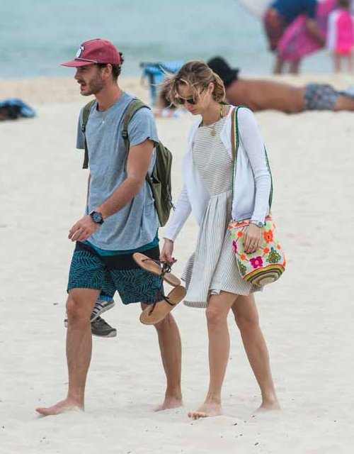 Pierre Casiraghi and Beatrice Borromeo at the Bondi beach in Sydney, Australia.
