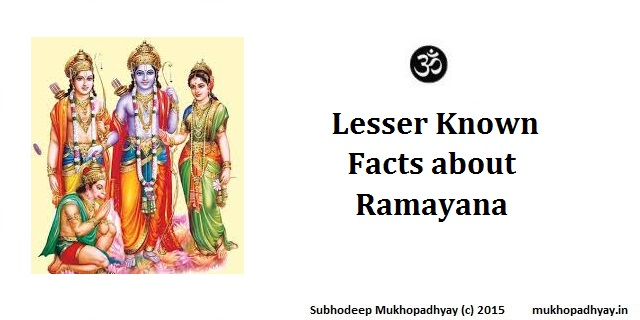 Lesser known facts about Ramayana