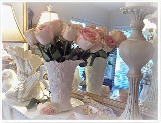 Dining room romantic mantel