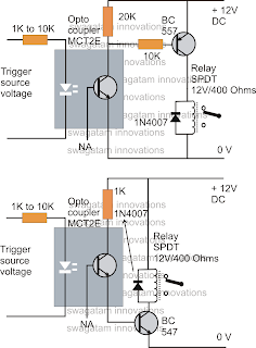Circuit panel how to drive a relay through an opto coupler circuit the rest of the operations are self evident ccuart Images