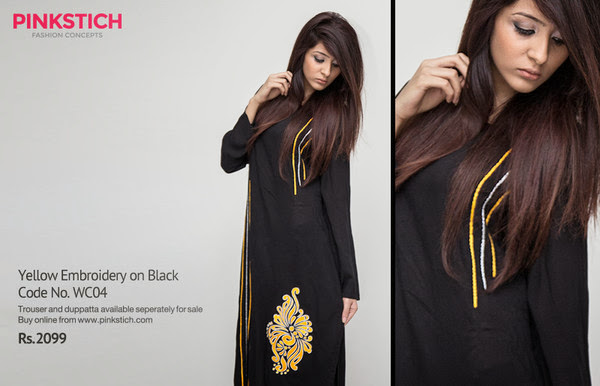 Pinkstich New Stylish Winter Dresses Collection 2013-2014 For Girls And Women Fashion