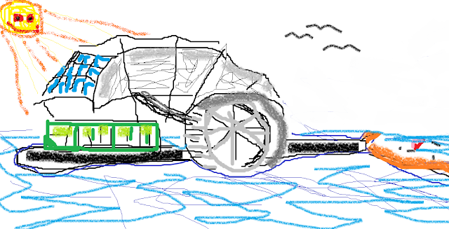 Andrew's Trash Wheel Drawing