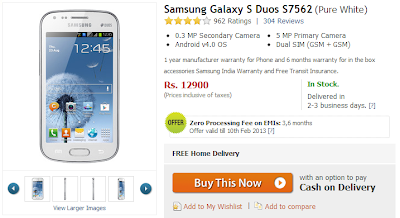 Samsung Galaxy S Duos Price Drop via Sohalic
