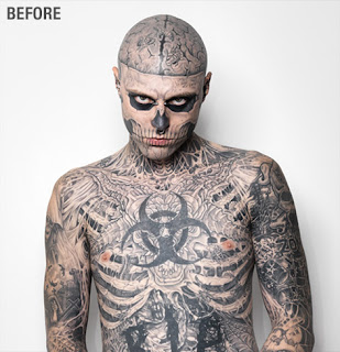 dermablend rick genest rico zombie boy tatouages tattoo