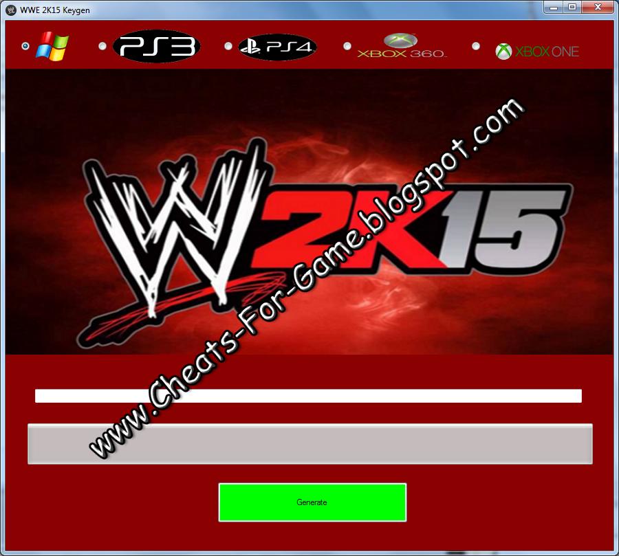 download wwe 2k15 key generator for pc
