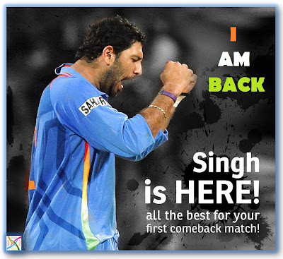 Yuvraj Singh T20 About him Cancer Comeback Latest News 6 sixes Photos/Pics/Images Videos Biography