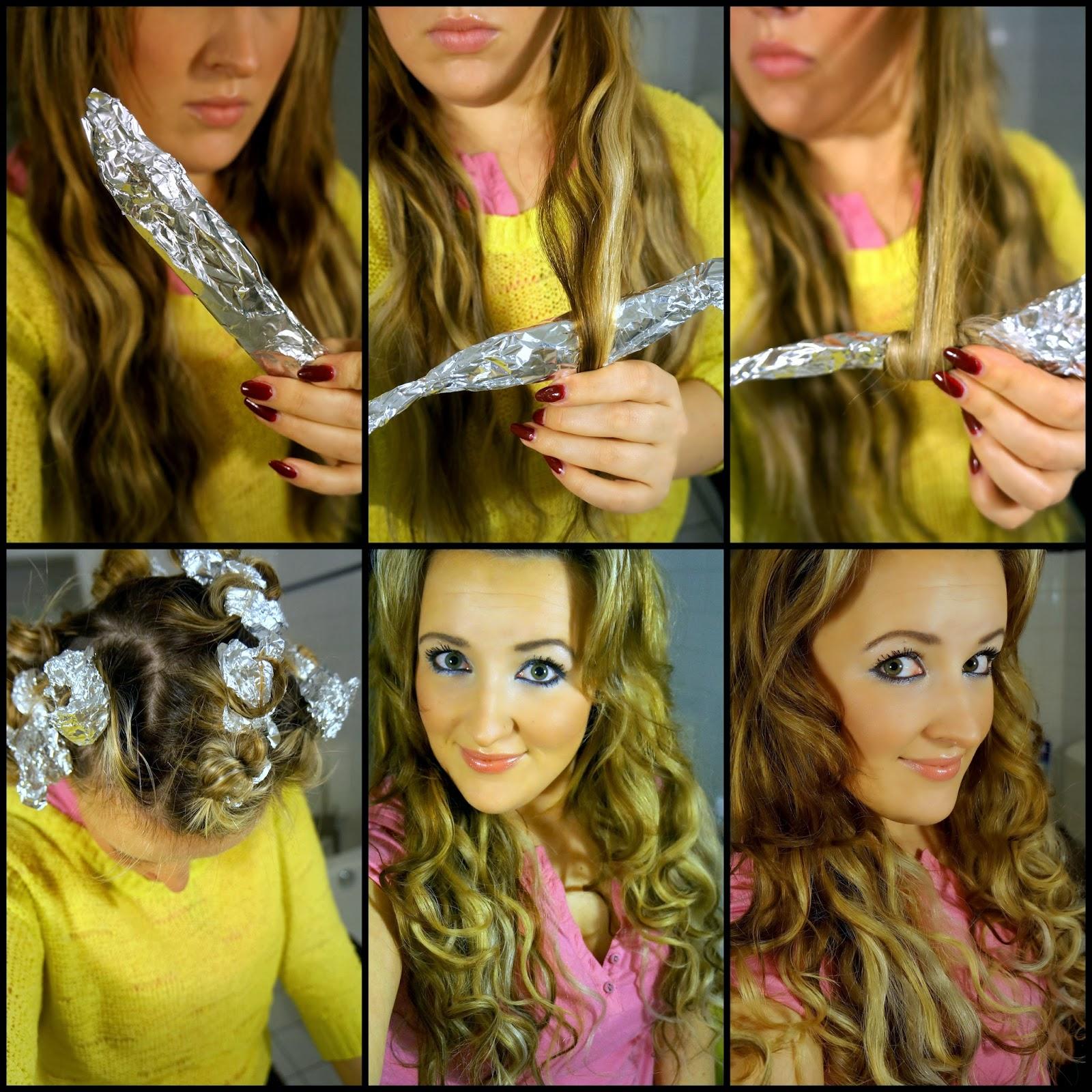 Frisuren locken mit alufolie
