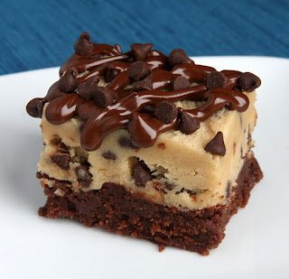 Chocolate Chip Cookie Dough Brownies by Recipe Girl