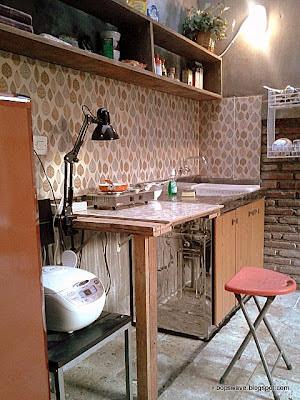A diy weekend project cara membuat meja dapur gaya bar for Bikin kitchen set