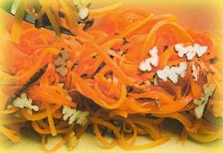 Ensalada de zanahoria con pecanas