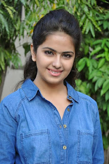 Acress Avika Gor Pictures in Pink Tight Jeans at Uyyala Jampala Movie Press Meet 0012.jpg