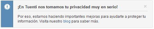 privacidad tuenti