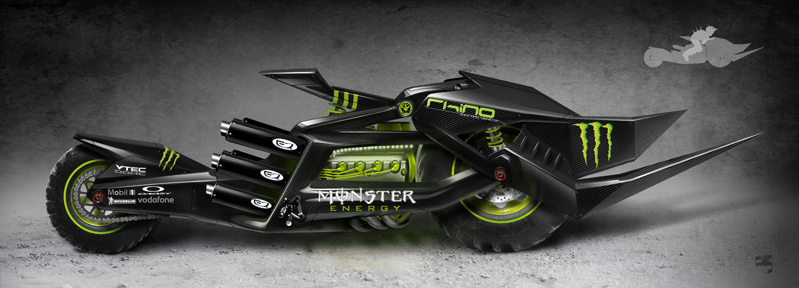 Chris Armstrong Product Concept: Jousting Motorcycle
