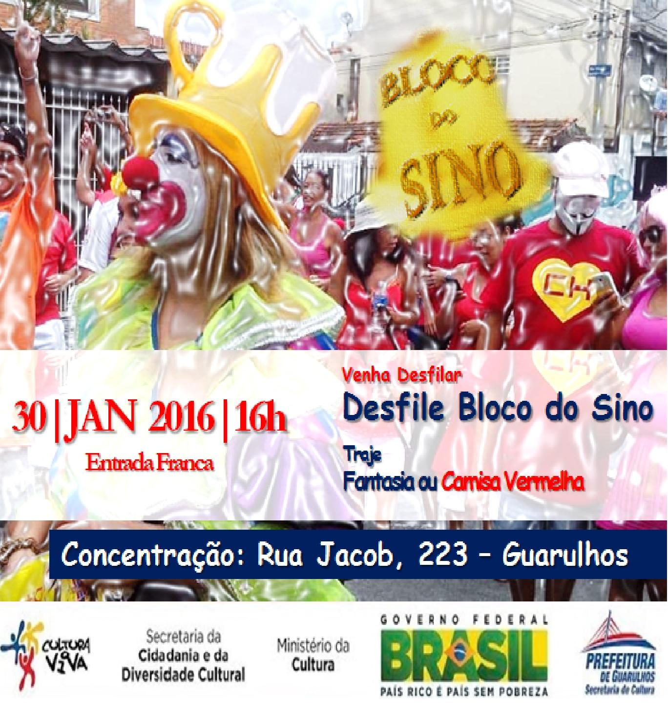 Bloco do Sino - Carnaval de Rua 30-01-2016