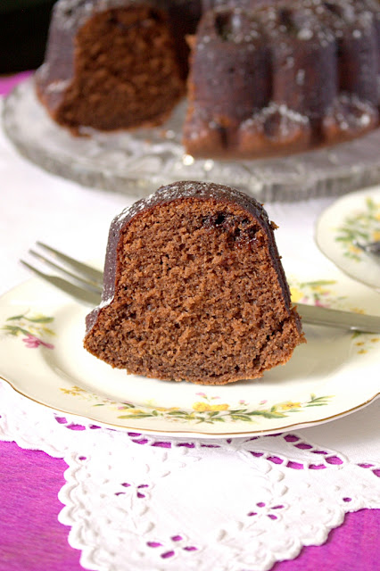 Nutella Chocolate Milkshake Bundt Cake - with a tunnel of Nutella hidden inside