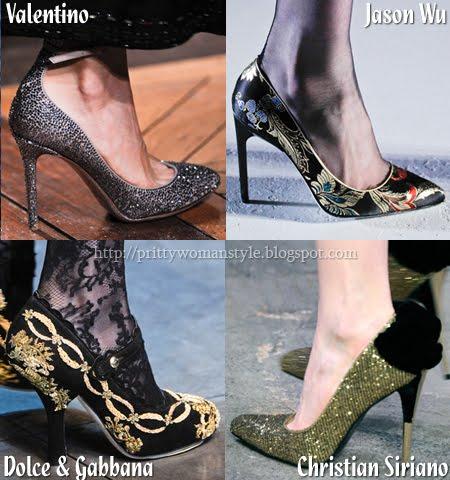 блестящи обувки, дамски обувки със златни орнаменти