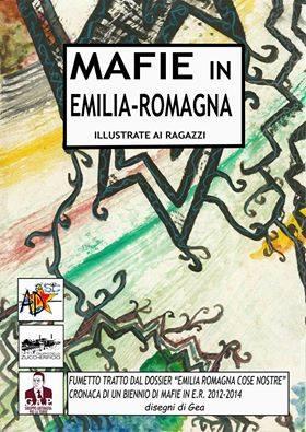 Mafie in Emilia Romagna illustrate ai ragazzi.