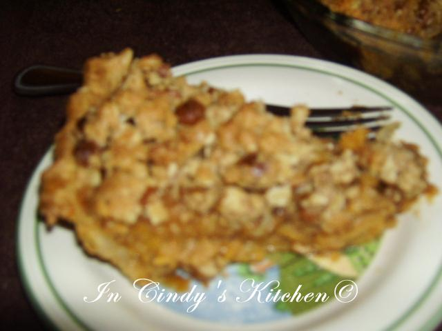 Sweet Potato Pie with Caramel Streusel Topping adapted partly Taste of ...