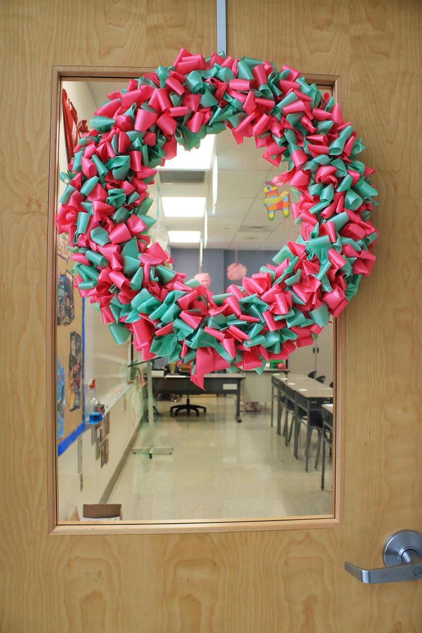 Classroom Christmas Design ~ Maryland pink and green for the next ten months