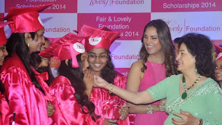 Lara Dutta looks stunning beautiful in Red Dress at Fair and Lovely Foundation Scholarships 2015