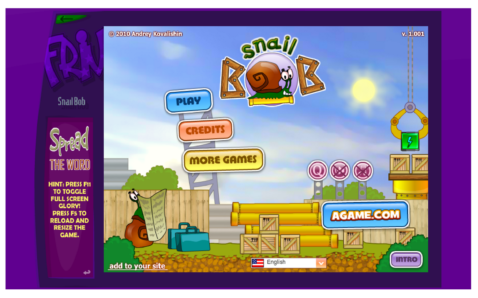 Game Review: SNAIL BOB on FRIV.com