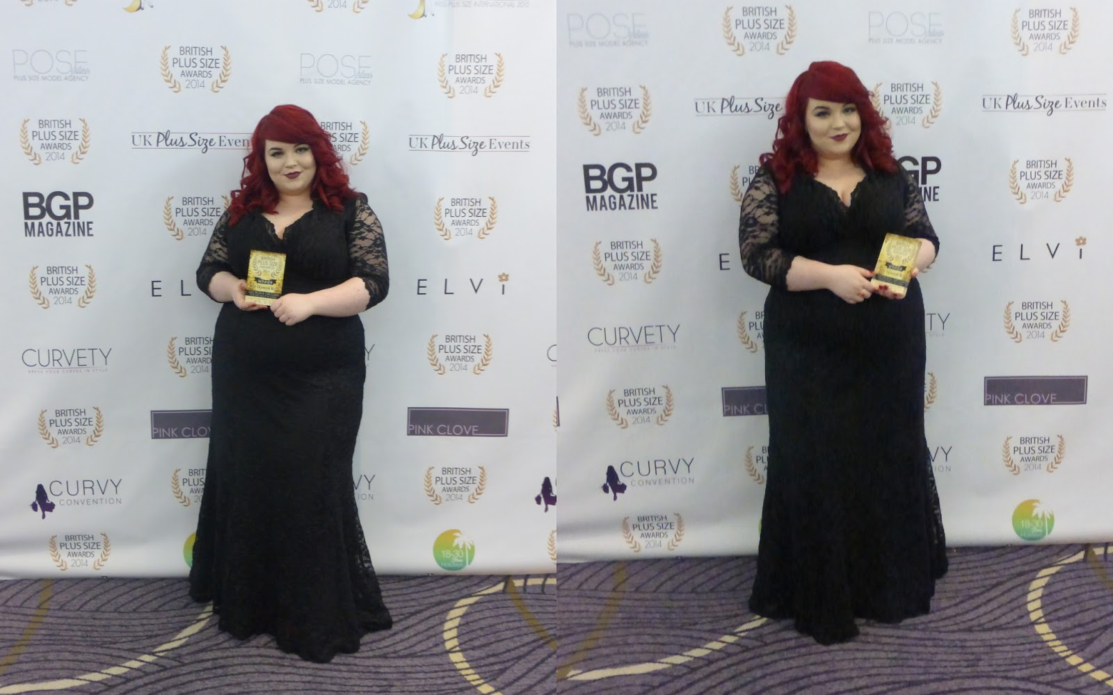 plus size awards, best fashion blog, georgina grogan, shemightbeloved