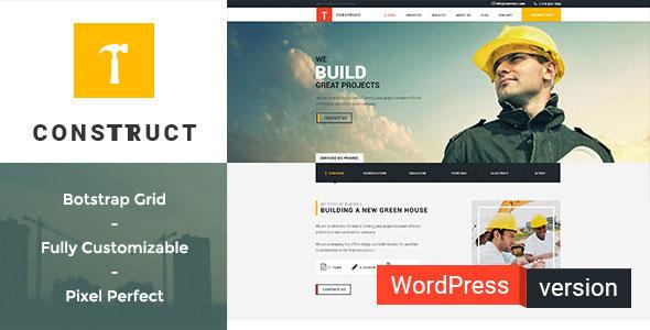 Free Download Construct WordPress Theme v.1.0