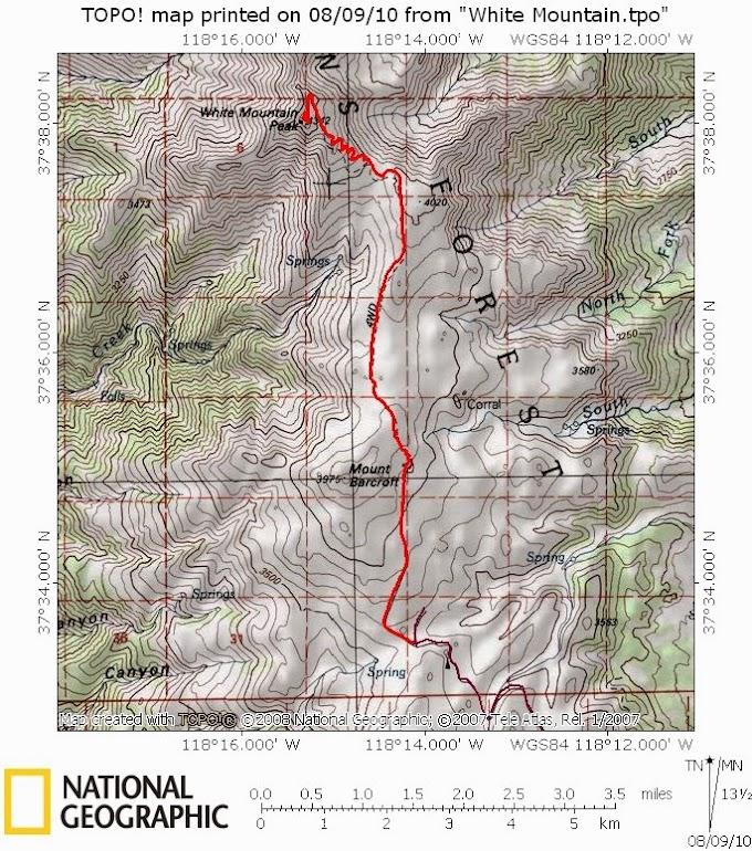 White Mountain Peak (CA, USA) - 14,252 ft (4,344m)