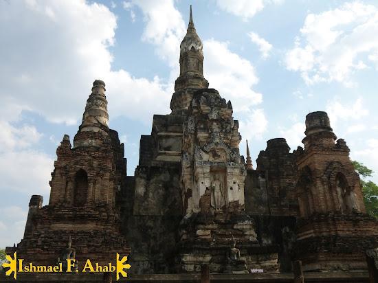 Lotus bud stupa of Wat Mahathat in Sukhothai Historical Park