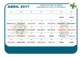 FARMACIA DE GUARDIA ABRIL 2017