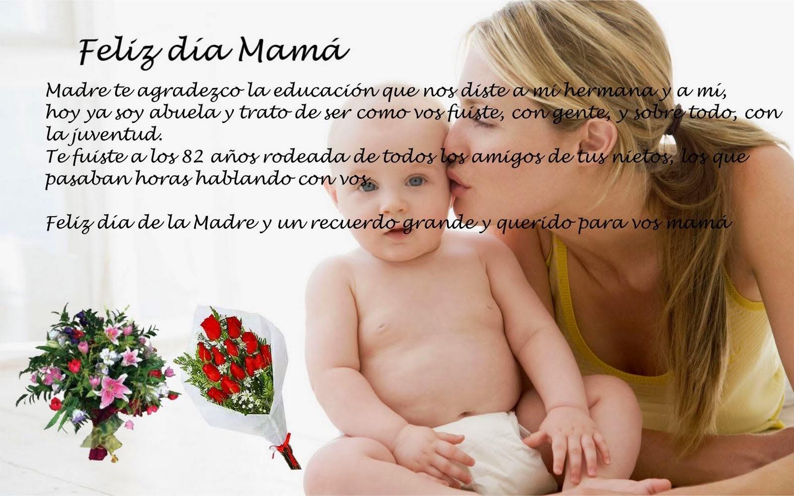Frases Dia De La Madre: Feliz Día Mamá Madre Te Agradezco La Educación