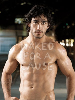 hot guys naked and with a boner